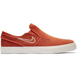 Nike SB Air Zoom Stefan Janoski Slip-On Skate Shoes - Vintage Coral/Sail