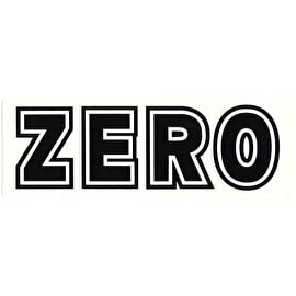 Zero Skateboard Sticker - Bold White/Black
