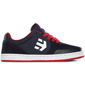 Etnies Marana Kids Skate Shoes - Navy/Red/White