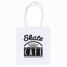 Skateboard Cafe Diner Tote Bag - White