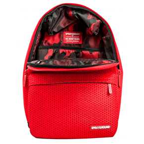 Sprayground Hexagon Mesh Cargo Backpack - Red