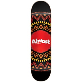 Almost Geo Aztec Skateboard Deck - Black 8.0