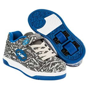 Heelys Dual Up - Grey/Blue/Logo Print