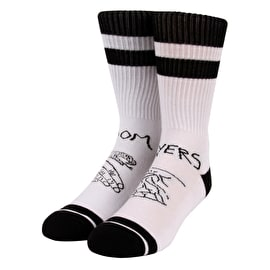 Doomsayers Snake Shake Socks - White/Black