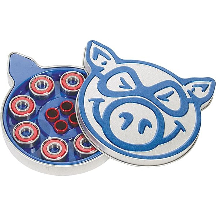 Pig Blue Bearings - ABEC 3 (Pack of 8)