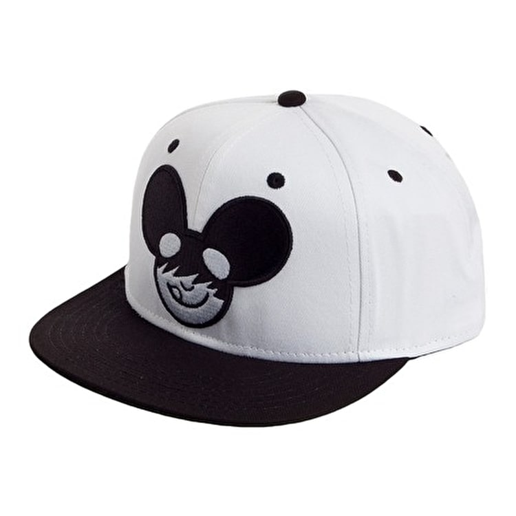 Neff Mau5 Icon Snapback - White / Black (B-Stock Lightly Soiled)