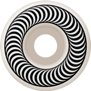 Spitfire Classic Skateboard Wheels - White/White 55mm