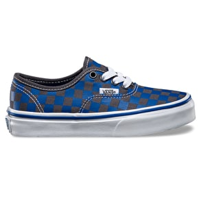 Vans Authentic Kids Shoes - (Checker) Blue/Asphalt