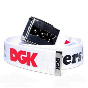 DGK Haters Scout Belt - White