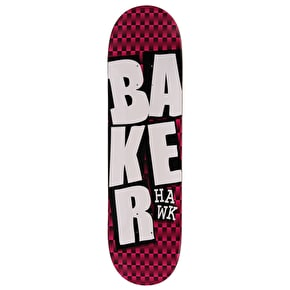Baker Stacked Checkers Skateboard Deck - Hawk 8.38