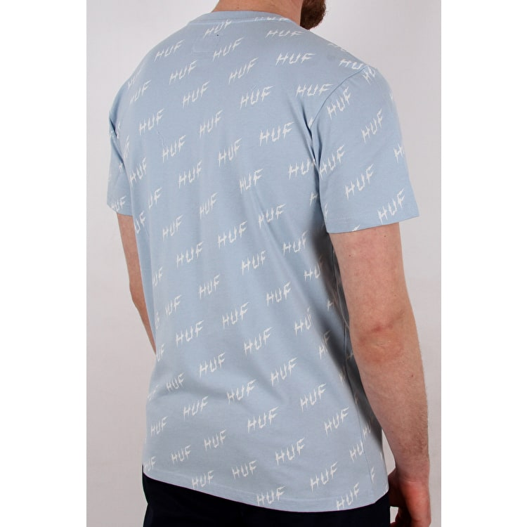 Huf Bolt All-Over T shirt - Light Blue