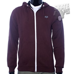 Fox Mr Clean Zip Front Superior Hoodie - Burgundy