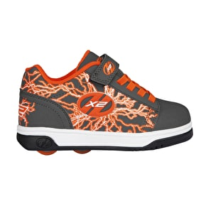 Heelys X2 Dual Up - Charcoal/Orange/Electricity
