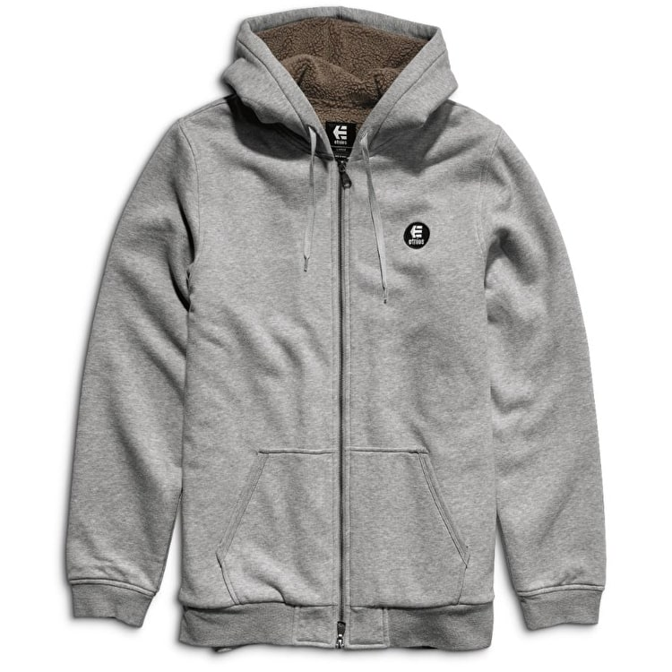 Etnies E-Base Sherpa Zip Hoodie - Grey/Heather