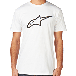 Alpinestars Ageless Classic T-Shirt - White/Black
