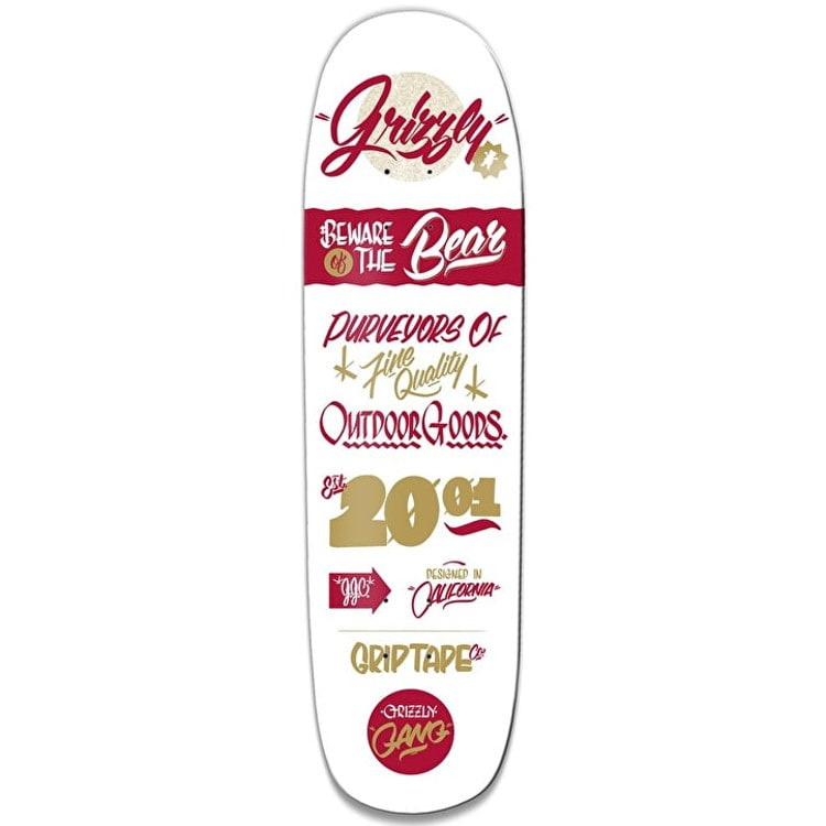 Grizzly Bodega Skateboard Deck - 8.375""