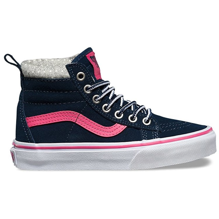 Vans Sk8-Hi MTE Kids Shoes - Navy/Pink