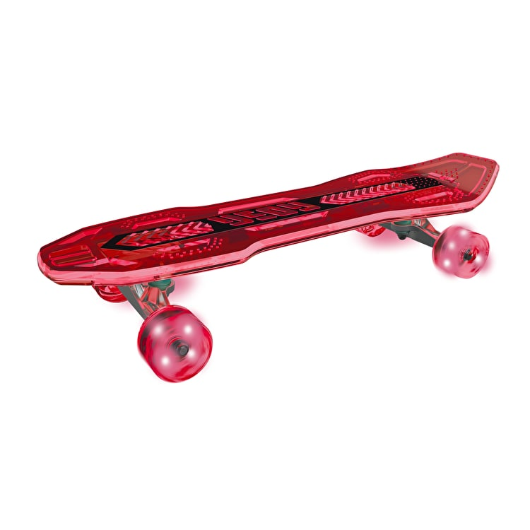 Neon Cruzer Light Up Complete Skateboard - Red