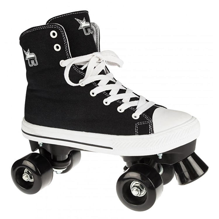 B-Stock Rookie Canvas Quad Rollerskates- Black - UK 3