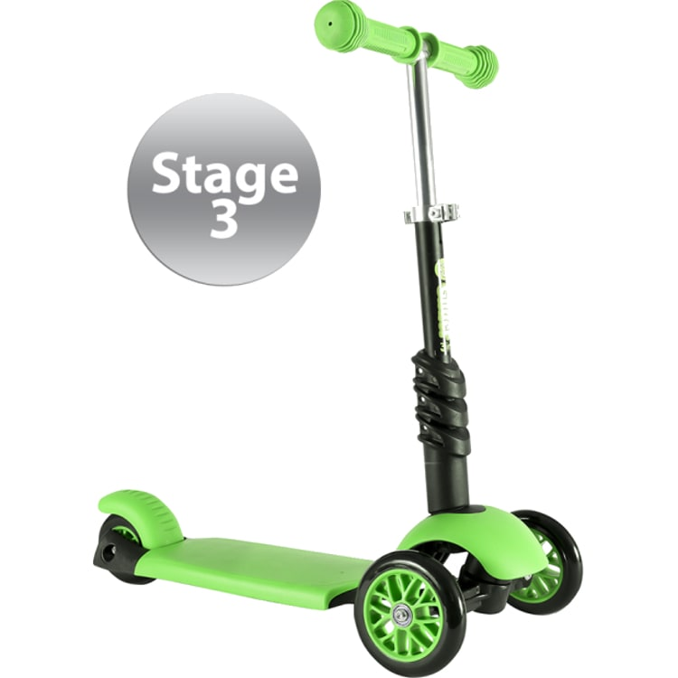 Y-Volution Y Glider 3-in-1 Complete Scooter - Green/Black