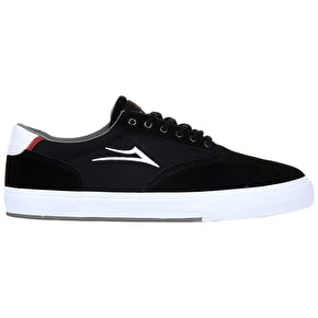 Lakai Mayfair Skate Shoes - Black/White Suede