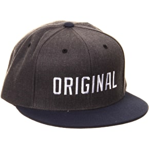 Kr3w Original Snapback Cap - Charcoal Heather/Navy