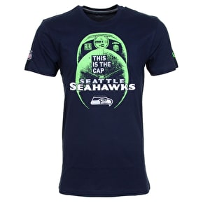 New Era NFL Seattle Seahawks Cap T-Shirt - Oceanside Blue