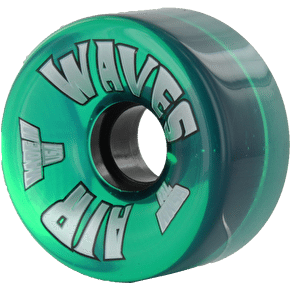 Air Waves 65mm 78A Outdoor Quad Skate Wheels Clear Green - 4 pack (B-Stock)