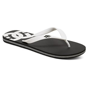 DC Spray Flip-Flops - Black/White/Black