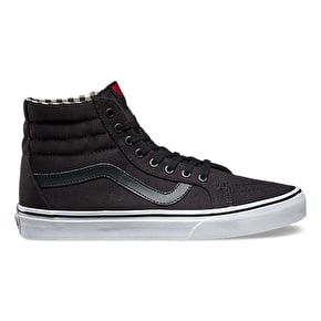 Vans Twill & Gingham SK8-Hi Reissue Shoes - Black