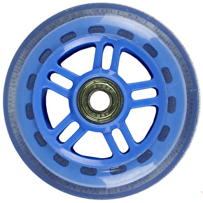 JD Bug Original Street 100mm Scooter Wheels - Sky Blue w/Bearings