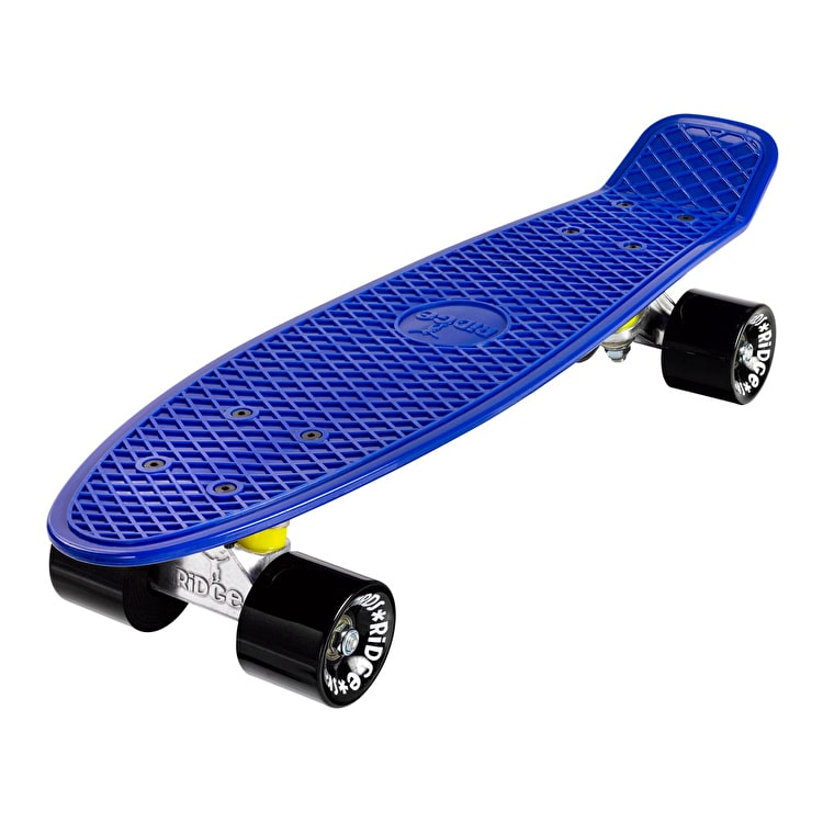"Ridge 22"" Mini Organic Complete Cruiser Skateboard - Yves Blue"