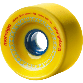 Orangatang Moronga 72.5mm Longboard Wheels - Yellow (Pack of 4)