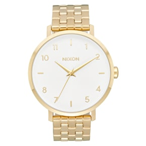 Nixon Arrow Womens Watch - All Gold/White