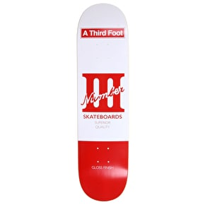 A Third Foot Playing Card Skateboard Deck - Black - 8.125