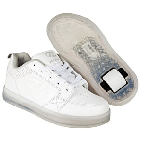Heelys Premium 1 Lo Light Up - Triple White