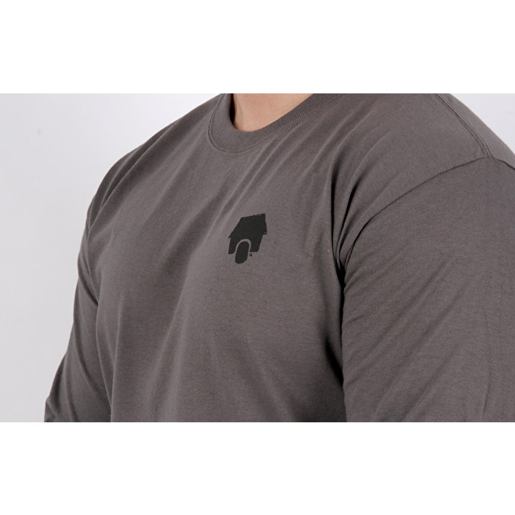 SkateHut Scooter Ride Long Sleeve T-Shirt - Charcoal