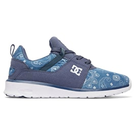 DC Heathrow Womens Skate Shoes - Navy/White