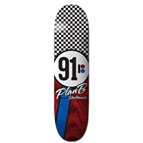 Plan B Team Checker Skateboard Deck - 8.25
