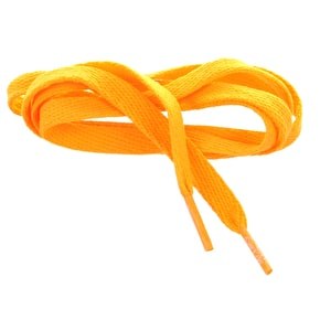 Mr Lacy Kids' Shoelaces - Junior Flatties Bright Orange