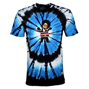 Grizzly Hyphy Bear T-Shirt - Blue Tie-Dye