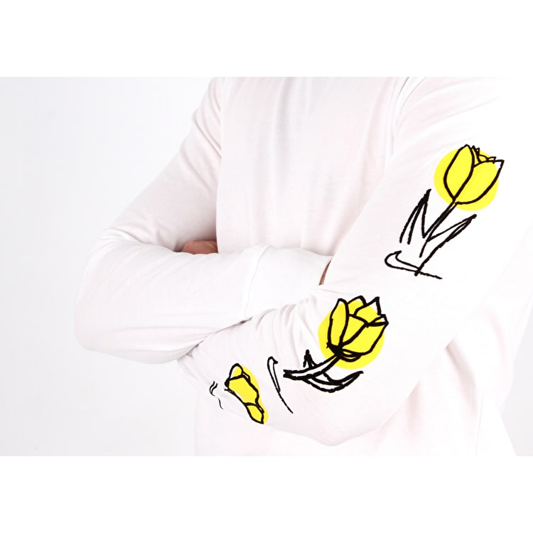 Nike SB Roses Long Sleeve T Shirt - White/Black