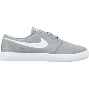 Nike SB Portmore II Ultralight Kids Skate Shoes - Wolf Grey/White