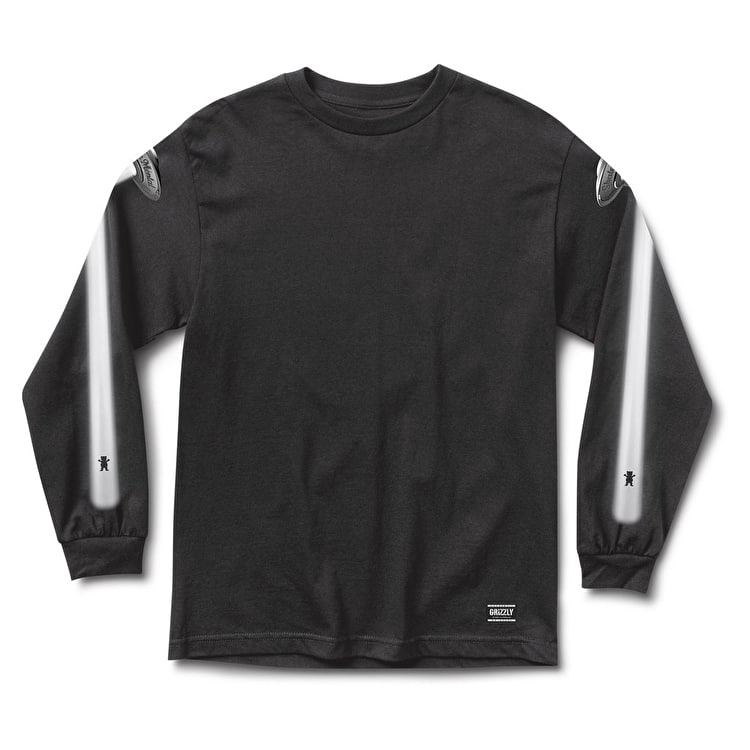 Grizzly x Skate Mental Abduction Longsleeve T-Shirt - Black