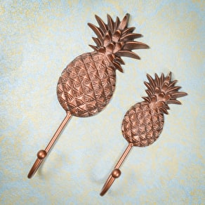 Copper Pineapple Hooks