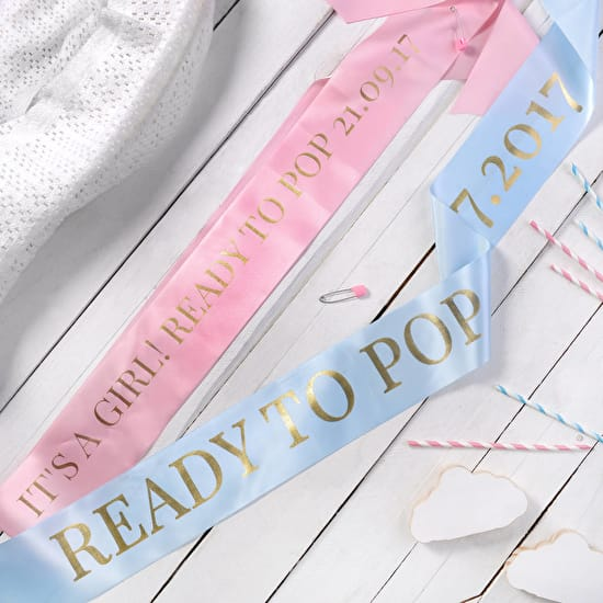 Personalised Baby Shower Sash