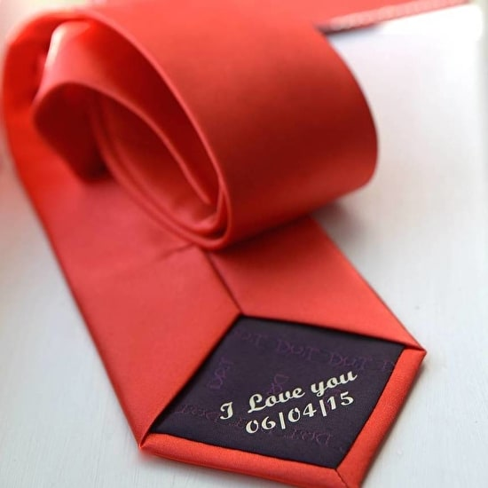 Groom And Page Boy Personalised Tie Set