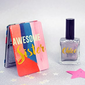 Sister Mirror With Personalised Nail Polish