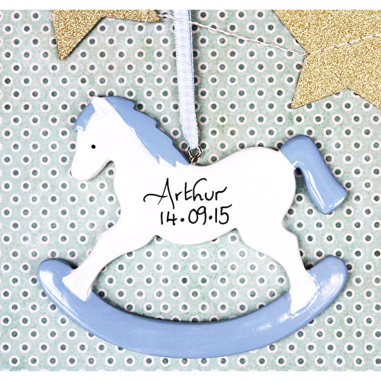 Personalised Rocking Horse Hanging Decoration