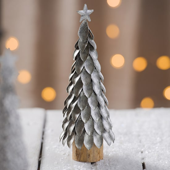 Decorative Metal And Wood Christmas Trees